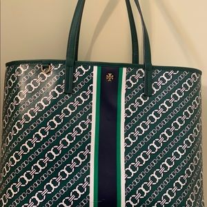 Tory Burch Gemini Tote in green
